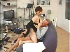 Chubby mature taking his cock after oral