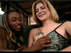 Lesbian scene with a huge clit girl