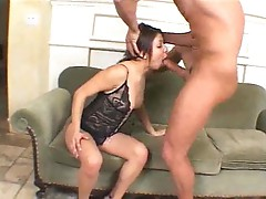 Cock plugs her asshole with hard thrusts