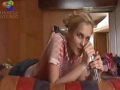 Soda bottle fucking her hot pussy