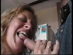 Horny British housewife entertains two men