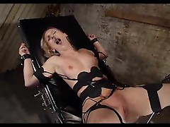 Lesbian femdom pain and toy sex