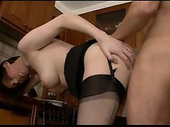 Milf fucked by a neighborhood boy in the house