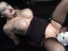 Aletta Ocean in a kinky scene with a black cock