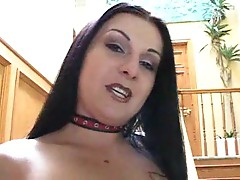 Slut in leather gets a good black cock DP
