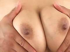 Lots of sticky goo on her tits for tit fucking
