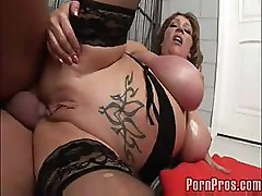Kandi Kox has massive tits and fucks guard in her jail cell