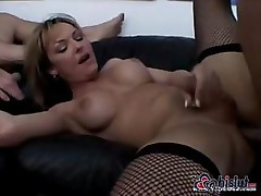 Hot tranny Danielle Foxxx takes on two other hard cocks for fun