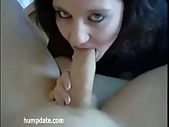 Amateur cutie sucks on that dick until he sticks it in her wet pussy