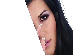 Rebeca Linares has huge boobs and a nice mouth and wet pussy