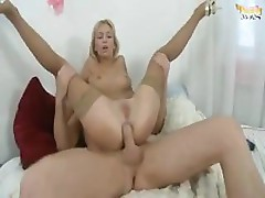 Blonde Constance loves to get that big dick or dildo up her ass