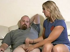 Lady is kind and generous enough to give man a handjob