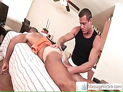 Dude getting welcome surprise when massaged By Massagevictim