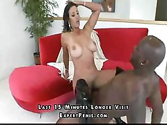 MILF with big tits gets to meet big dick and get fucked by it