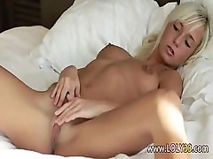 fingering pussy on the bed