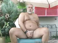 Fat Daddy Mark Jerking Off