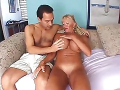 Granny has some huge boobs and fucks and sucks a hard cock
