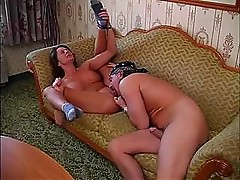Amateur Sinful Cheryl gets her biker dude on the couch and fucks