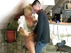 Mature MILF finds a tasty treat with his cock and fucks it