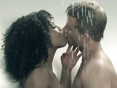 Naughty Misty Stone has a raunchy shower with this stud