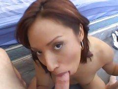 Amazing Jasmine Byrne gobbles down this fuck shaft