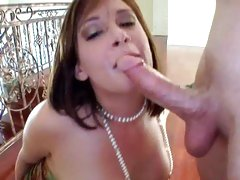 Tory Lane loving the feel on this cock in her mouth