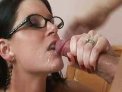 India Summers revels in the taste of creamy man pie on her lips