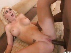 Watch naughty Missy Woods take this huge woody up her poop shoot.