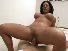 Bella Reese riding her cunt on a hard huge cock