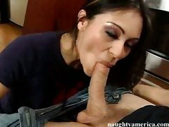 Thea Marie gets sloppy on some big meaty cock in her mouth like a meal