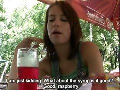 Hot Czech girl takes money and gives a horny blowjob