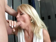 Cock crazy Charlee Chase sucks on this skin flute
