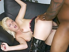 Hot Blonde interracial wang rammed