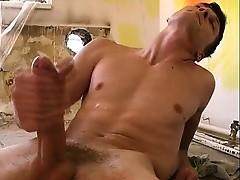 Awesome gay boy threesome sex