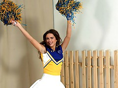 Cheerleader masturbating