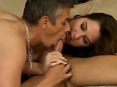 Sexy ambisexual threesome fuck
