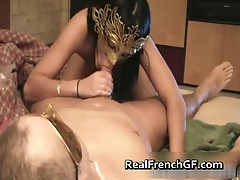 Amazing french girl takes a big ride