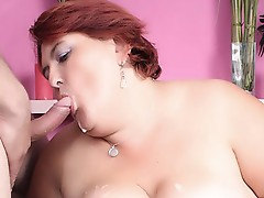 Large girl oral