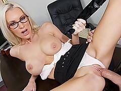 Breathtaking Blonde boss bonks her employee
