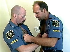 Sexy cop bodybuilders