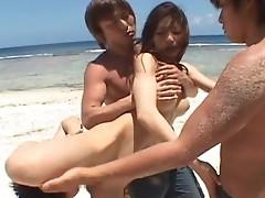 Anri Suzuki Naughty bitch group outdoor