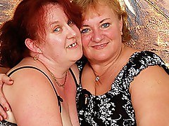 Aged bbw lesbos fuck with toys