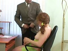 Hawt youthful slut does dirty tricks on her teacher's sofa.