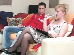 Silvia and Lewis seductive mom on video