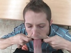 Guy sucks and fucks massive dick
