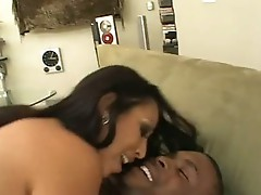 Horny Monma Jasmine Byrne acquires jizzload after hard ride on black weenie