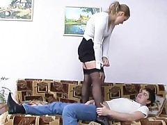 Susanna and Adam lewd nylon video