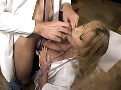 Breasty Blonde nurses fucked
