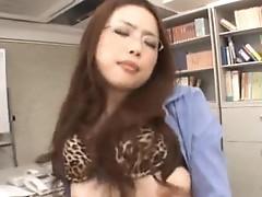 Gorgeous teacher An Mashiro fucks in her office