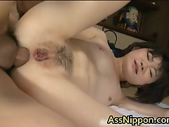 Cute Asian Babe in Hot Gang Bang ass